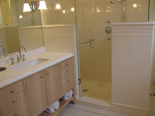 ceramic tile shower construction