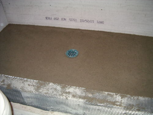 mortar bed for shower floor tile