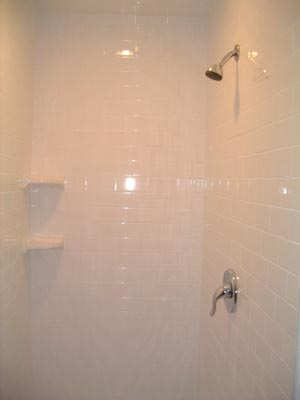 Click on photo to see how ceramic tile shower was built